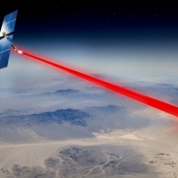 A solar panel in space is collecting energy that could one day be beamed to anywhere on Earth