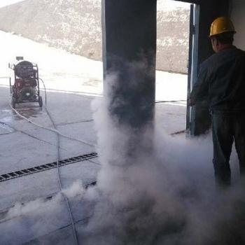 Outdoor use mobile diesel heating, diesel-driven steam pressure cleaner